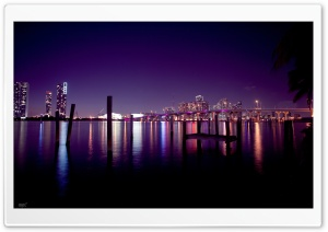 Miami Skyline HD Wide Wallpaper for 4K UHD Widescreen desktop & smartphone