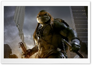 Michelangelo - Teenage Mutant Ninja Turtles 2014 Movie HD Wide Wallpaper for Widescreen