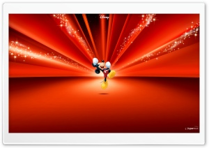Mickey Mouse Disney Red HD Wide Wallpaper for 4K UHD Widescreen desktop & smartphone