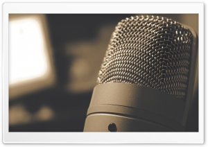 Microphone HD Wide Wallpaper for Widescreen