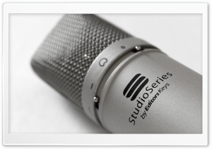 Microphone Close Up HD Wide Wallpaper for Widescreen