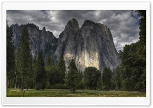 Middle Cathedral Rock, Yosemite Valley, California HD Wide Wallpaper for Widescreen