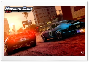 Midnight Club Los Angeles Corvette vs 280Z HD Wide Wallpaper for Widescreen