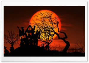 Midnight Halloweeen HD Wide Wallpaper for Widescreen