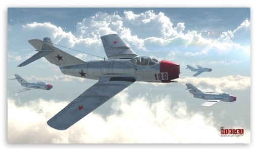 MiG-15bis HD wallpaper for HD 16:9 High Definition WQHD QWXGA 1080p 900p 720p QHD nHD ; Mobile 16:9 - WQHD QWXGA 1080p 900p 720p QHD nHD ;