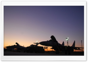 MIG-29 At Sunset HD Wide Wallpaper for Widescreen