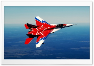 MIG 29 In The Sky HD Wide Wallpaper for 4K UHD Widescreen desktop & smartphone