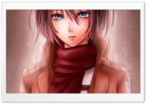 Mikasa Ackerman Kawaii HD Wide Wallpaper for Widescreen