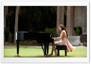 Miley Cyrus Playing Piano HD Wide Wallpaper for Widescreen