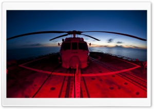 Military Helicopters Red And Blue HD Wide Wallpaper for Widescreen
