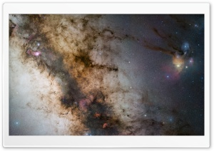 Milky Way Fragment HD Wide Wallpaper for Widescreen