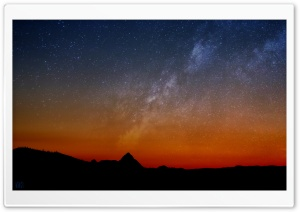 Milky Way Landscape by Yakub Nihat HD Wide Wallpaper for Widescreen
