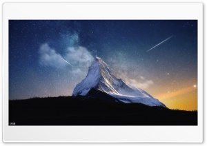 Milky Way Mountain by Yakub Nihat HD Wide Wallpaper for Widescreen
