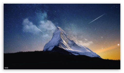 Download Milky Way Mountain by Yakub Nihat HD Wallpaper