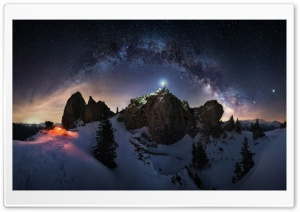 Milky Way Night Sky Astrophotography Ultra HD Wallpaper for 4K UHD Widescreen desktop, tablet & smartphone
