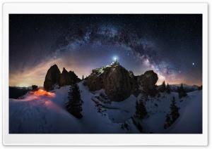 Milky Way Night Sky Astrophotography HD Wide Wallpaper for 4K UHD Widescreen desktop & smartphone