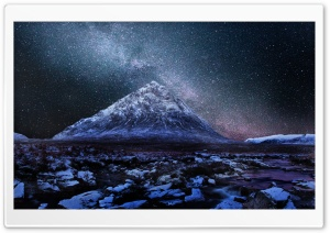 Milkyway Over Scottish Highlands HD Wide Wallpaper for Widescreen