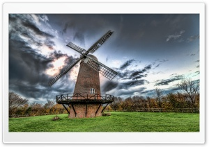 Mill Under Gray Sky HD Wide Wallpaper for Widescreen