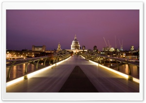 Millennium Bridge And St Paul's HD Wide Wallpaper for Widescreen