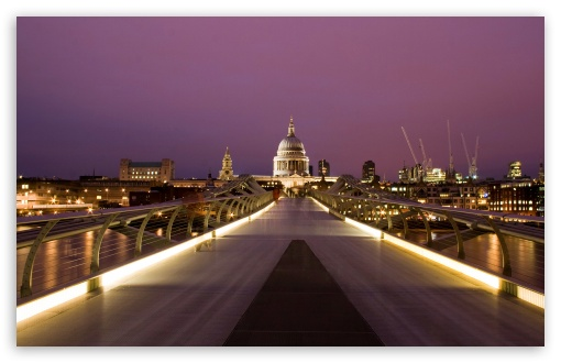 Download Millennium Bridge And St Paul's HD Wallpaper