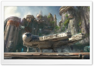 Millennium Falcon Docked HD Wide Wallpaper for Widescreen