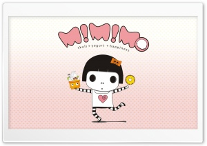 Mimimo = The Happy Girl HD Wide Wallpaper for Widescreen