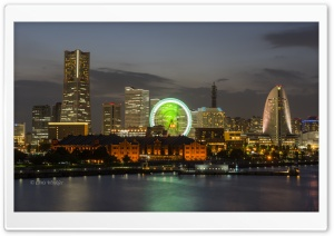 Minato Mirai 21 Skyline View HD Wide Wallpaper for 4K UHD Widescreen desktop & smartphone