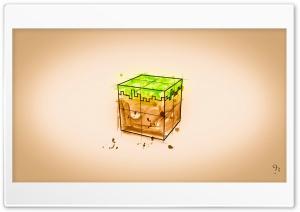 Minecraft Grass Block Sketch Ultra HD Wallpaper for 4K UHD Widescreen desktop, tablet & smartphone
