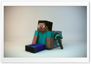Minecraft Guy HD Wide Wallpaper for Widescreen