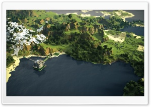 Minecraft Landscape HD Wide Wallpaper for Widescreen