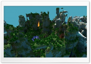 Minecraft Landscape HD Wide Wallpaper for 4K UHD Widescreen desktop & smartphone