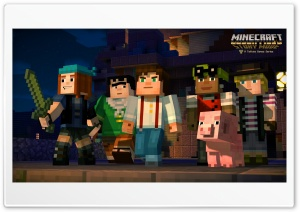 Minecraft Story Mode HD Wide Wallpaper for 4K UHD Widescreen desktop & smartphone