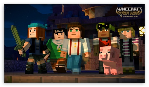 Minecraft Story Mode ❤ 4K UHD Wallpaper for 4K UHD 16:9 Ultra High Definition 2160p 1440p 1080p 900p 720p ; Mobile 16:9 - 2160p 1440p 1080p 900p 720p ;