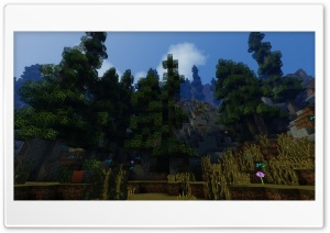 Minecraft with Shaders HD Wide Wallpaper for 4K UHD Widescreen desktop & smartphone