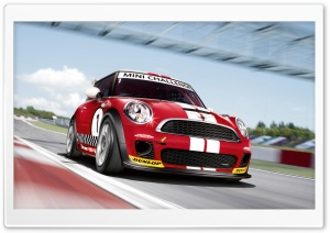 Mini Cooper Race Car HD Wide Wallpaper for Widescreen