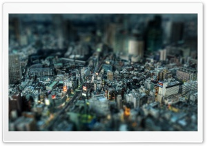 Miniature City HD Wide Wallpaper for 4K UHD Widescreen desktop & smartphone