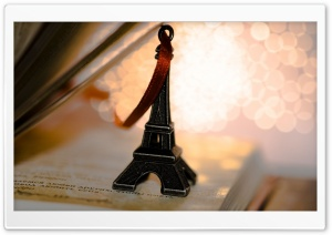 Miniature Eiffel Tower Souvenir HD Wide Wallpaper for Widescreen