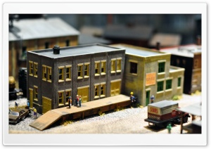 Miniature Town HD Wide Wallpaper for Widescreen