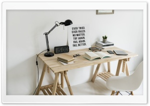 Minimal Workspace, Motivational Quote Ultra HD Wallpaper for 4K UHD Widescreen desktop, tablet & smartphone