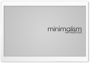 Minimalism Design HD Wide Wallpaper for Widescreen