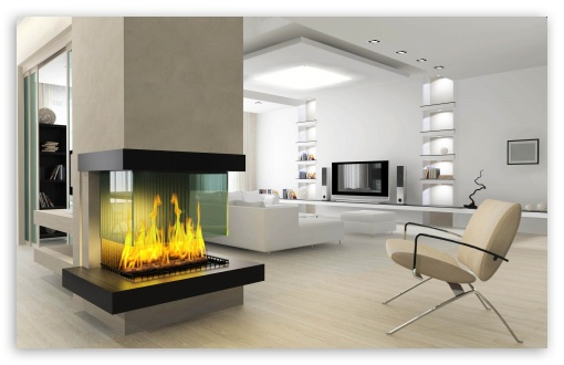 Minimalist Fireplace 3D ❤ 4K HD Desktop Wallpaper for 4K