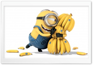Minions Banana 2015 HD Wide Wallpaper for Widescreen