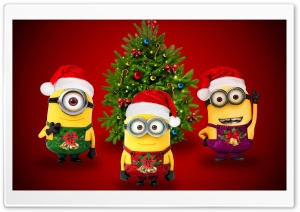 Minions Christmas HD Wide Wallpaper for Widescreen