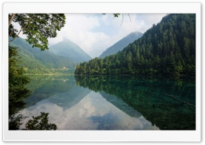 Mirror Lake at Jiuzhaigou HD Wide Wallpaper for Widescreen