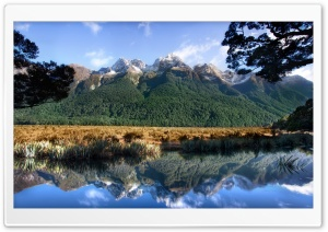 Mirror Lake New Zealand HD Wide Wallpaper for 4K UHD Widescreen desktop & smartphone