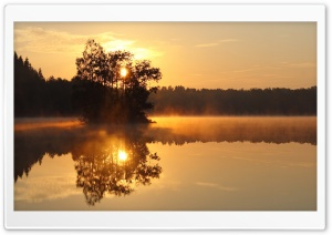 Mist Lake HD Wide Wallpaper for Widescreen