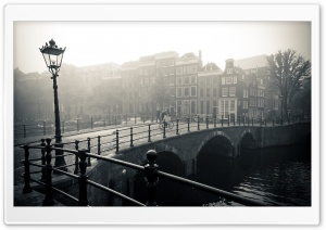 Misty Amsterdam HD Wide Wallpaper for Widescreen