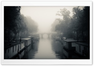 Misty Amsterdam   Autumn HD Wide Wallpaper for Widescreen