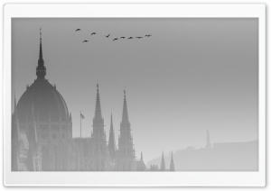 Misty Budapest HD Wide Wallpaper for Widescreen