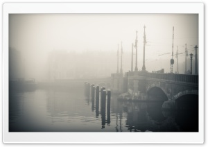 Misty Morning In Amsterdam HD Wide Wallpaper for Widescreen